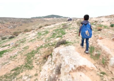 Palestinian Kids Dodge Settler Attacks (credit AJ+)