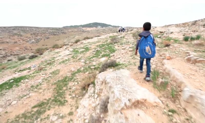 Palestinian Kids Dodge Settler Attacks (credit AJ+)