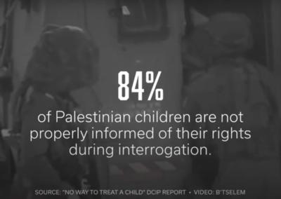 Palestinian Children: Interrogated and Traumatized (Credit: IMEU)