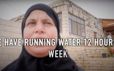 Water inequality in the West Bank (Credit: Jewish Voice for Peace)